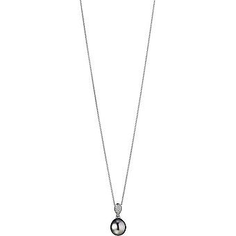 Adriana Necklace Silver Tahiti 9-10mm Premium PR4-59