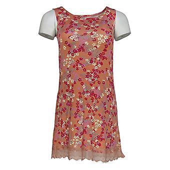 LOGO Layers Par Lori Goldstein Women-apos;s Top Floral W/ Lace Pink A346419