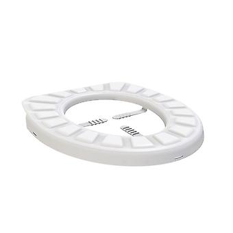 Silicone protection with suction cups for toilet seat - White