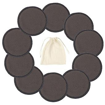 Wiederverwendbare Bambus Baumwolle Pads, Make-up Gesichtsentferner Triple Layers Wipe Pad