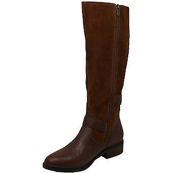 الأمريكية خرقة النساء كولينز مزدوجة سستة طويل القامة ركوب الأحذية