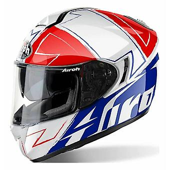 Airoh ST701 Full Face Motorcycle Helmet Red Blue White ACU Approved