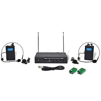 Receiver with 2 wireless headsets VHF