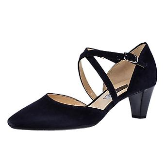 Gabor Callow Cross Strap Dressy Sandals In Navy Suede