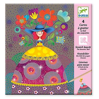 Djeco dj09725 small gifts-scratch cards, multicoloured