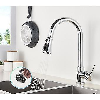 360-Rotation gebürsteter Wasserhahn - Pull Out Sink Water Tap Single Handle