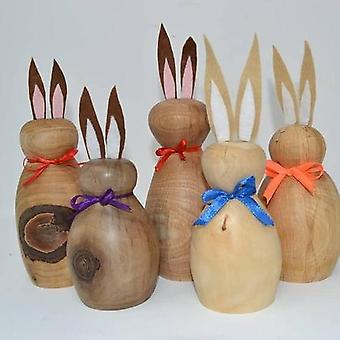 1 stueck Easter bunny bunny wooden handmade gift Easter decoration wood decoration assorted in color