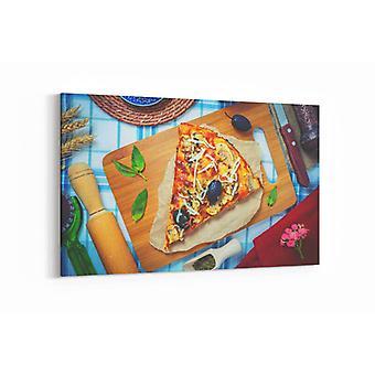 Gemälde - Pizza Scheibe - 100x70cm