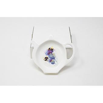 Jane Bannon Bees on Thistle Tea Bag Tidy