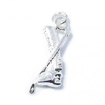 Équitation Boot And Crop Sterling Silver Charm .925 X 1 Horse Rider Charms - 8236