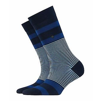 Calcetines Burlington Stripe - Azul Marino