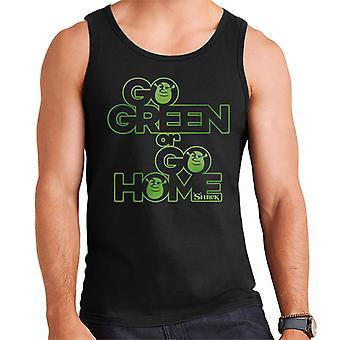 Shrek Go Green eller gå hjem Mænd's Vest