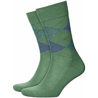Burlington Preston Socks - Khaki Green