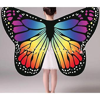 Soft Fabric Butterfly Wings Szal Fairy Ladies Nimmph Pixie Costume Akcesoria