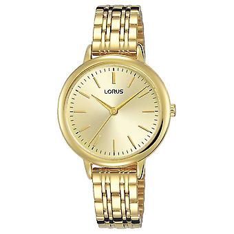 Lorus Womens | Gold Sunray Dial | Gold PVD Plated Steel Bracelet RG204QX9 Watch
