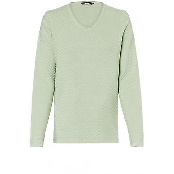 Olsen Pistachio Ribbed Knit Jumper