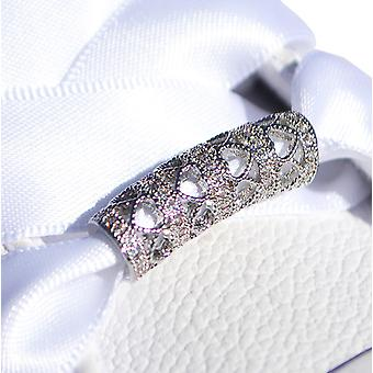 Encanto del zapato de plata corazón de cristal tubo