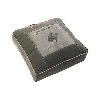 Pouffe Dekodonia Charleston Coton en cuir (50 x 14 x 55 cm)