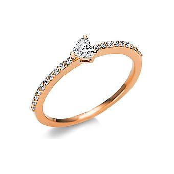 Luna Creation Promessa Solitairering con ribete lateral 1U610R854-3 - Ancho del anillo: 54
