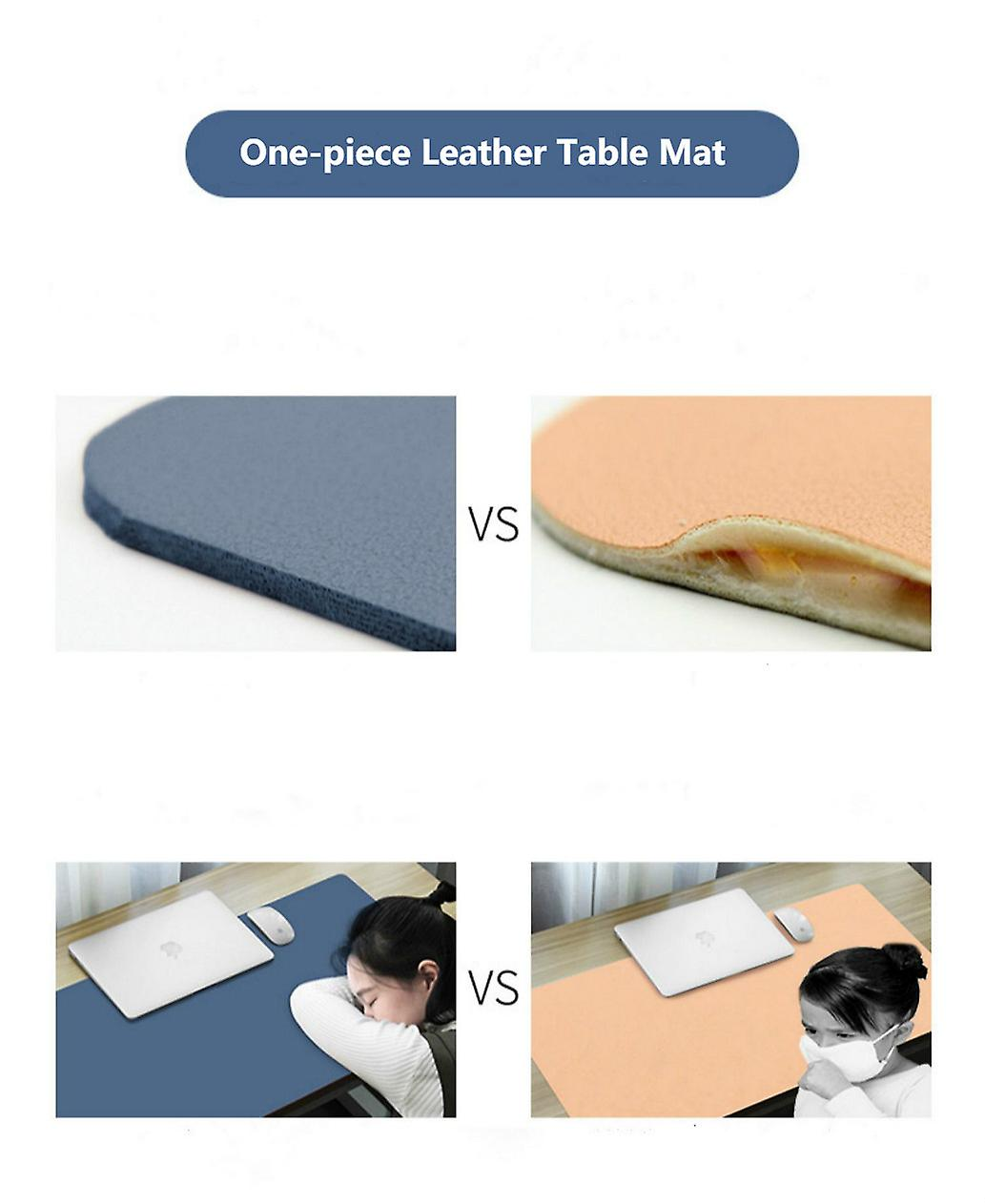 Double-Sided Mouse Pad Eco-friendly Cork PU Leather Desk
