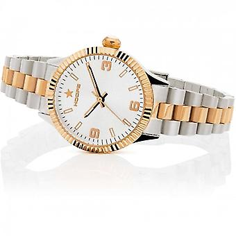 Hoops New Luxury Silver And Gold White 30mm Women's Watch