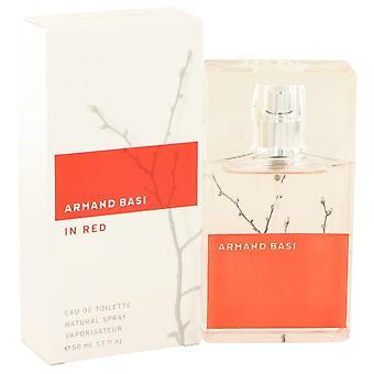 Armand Basi en rojo Eau De Toilette Spray por Armand Basi 1.7 oz Eau De Toilette Spray