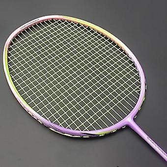 8u 65g Professional Carbon Fiber Badminton Racket, Raquette Super Light Weight
