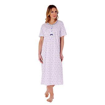 Slenderella ND77103 Women's Floral Cotton Nightdress