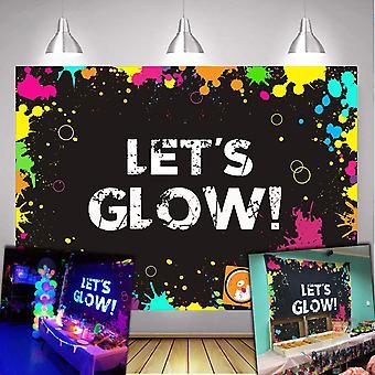 Daniu glow neon fél háttere lehetővé teszi, hogy ragyogás fröccs fotózás háttér 7x5ft vinyl izzó fél