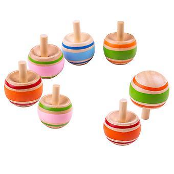 Bigjigs lelut perinteinen puinen Spinning Tops - varastointi täyteaineita, osapuolen laukku