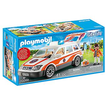 Playmobil City Life Hospital Emergency Car Playset