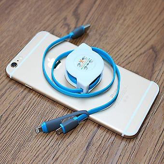 Retractable 2-in-1 Charging Cable