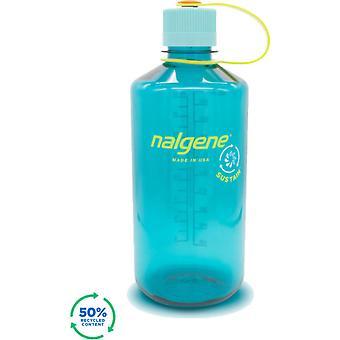 Nalgene 32oz Narrow Mouth Sustain Bouteille d'eau (Cerulean) -
