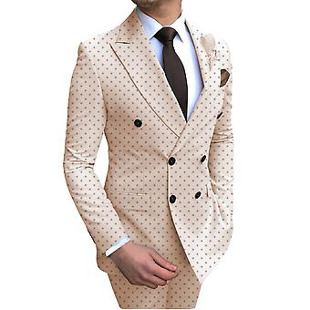 Men's 2 Pieces Poika Dot Bussiness Suit ( Set 1)