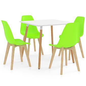 5 Piece Dining Set Green