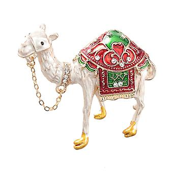 Cute Brooch Pin Camel Corsage Diamond Inlaid Painted Alloy Ladies Brooch