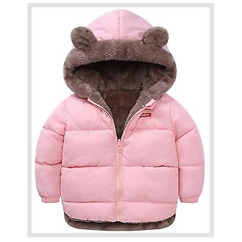 Kids Cotton Clothing Thickened Down Winter Warm Clothing With Hooded Jacket