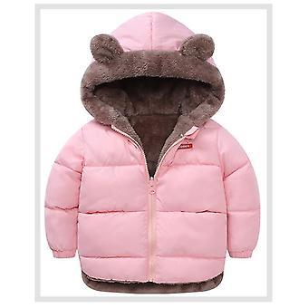Dětské bavlněné oblečení zahuštěné zimní teplé oblečení s kapucí bundou