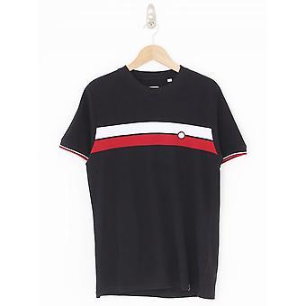 Pretty Green Chest Stripe T.Shirt - Black