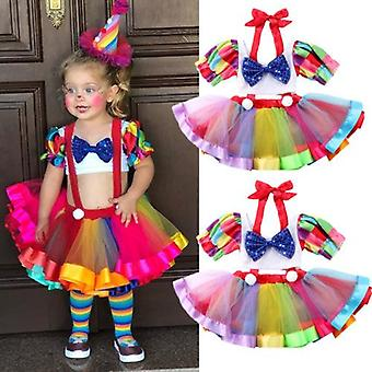 Baby Summer Clothing Set, Toddler Kids Circus Party Birthday Dress