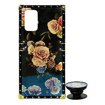Telefon sag Eye-Trunk Blomster Cover + RingHolder Til iPhone X MAX