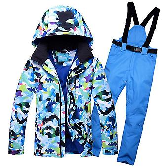 Waterproof Breathable Super Warm Men Ski Suit