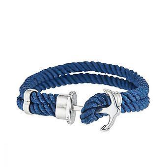 Bracelet Homme double corde nylon et ancre acier