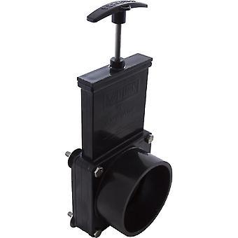 "Valterra 7311 3"" Slip x Tank Flange 30 PSI ABS Gate Valve - Black"
