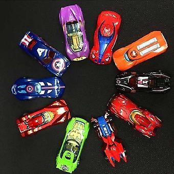 Superhelt figur legetøj, Avengers trække sig tilbage biler, Captain America, Spider-man,
