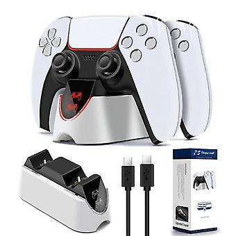 For PS5 Dual USB Handle Fast Charging Dock Station Stand Charger Fast Charger