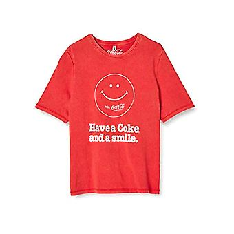 Only Onlcoke Life Boxy S/s Smile Top Box Jrs T-Shirt, High Risk Red, L Woman