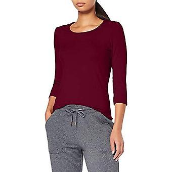 Trigema 542501 Långärmad T-shirt, Röd (Sangria 089), S Donna