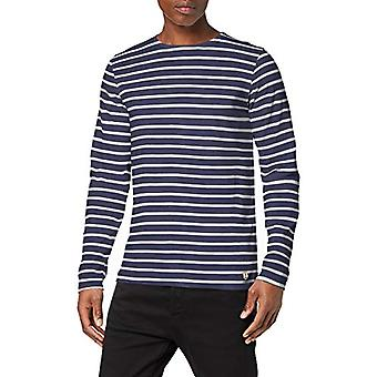 Armor Lux Plozevet T-Shirt, Multicolored (Navire/Blanc 600), Small Man