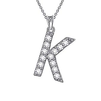 Besilver FP0073A - Letter-shaped pendant necklace of the alphabet, in Sterling Silver 925, with Crystals, with Ref monogram. 8431228533803